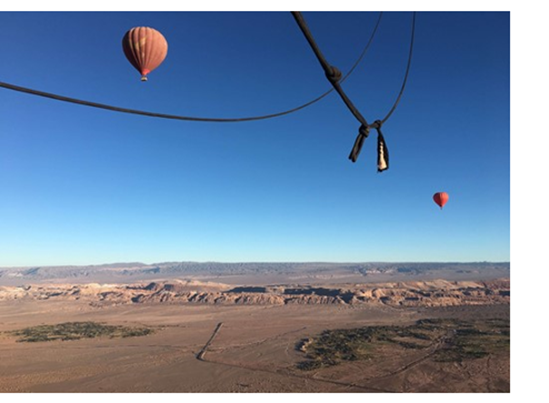 atacama view from hot-air balloon