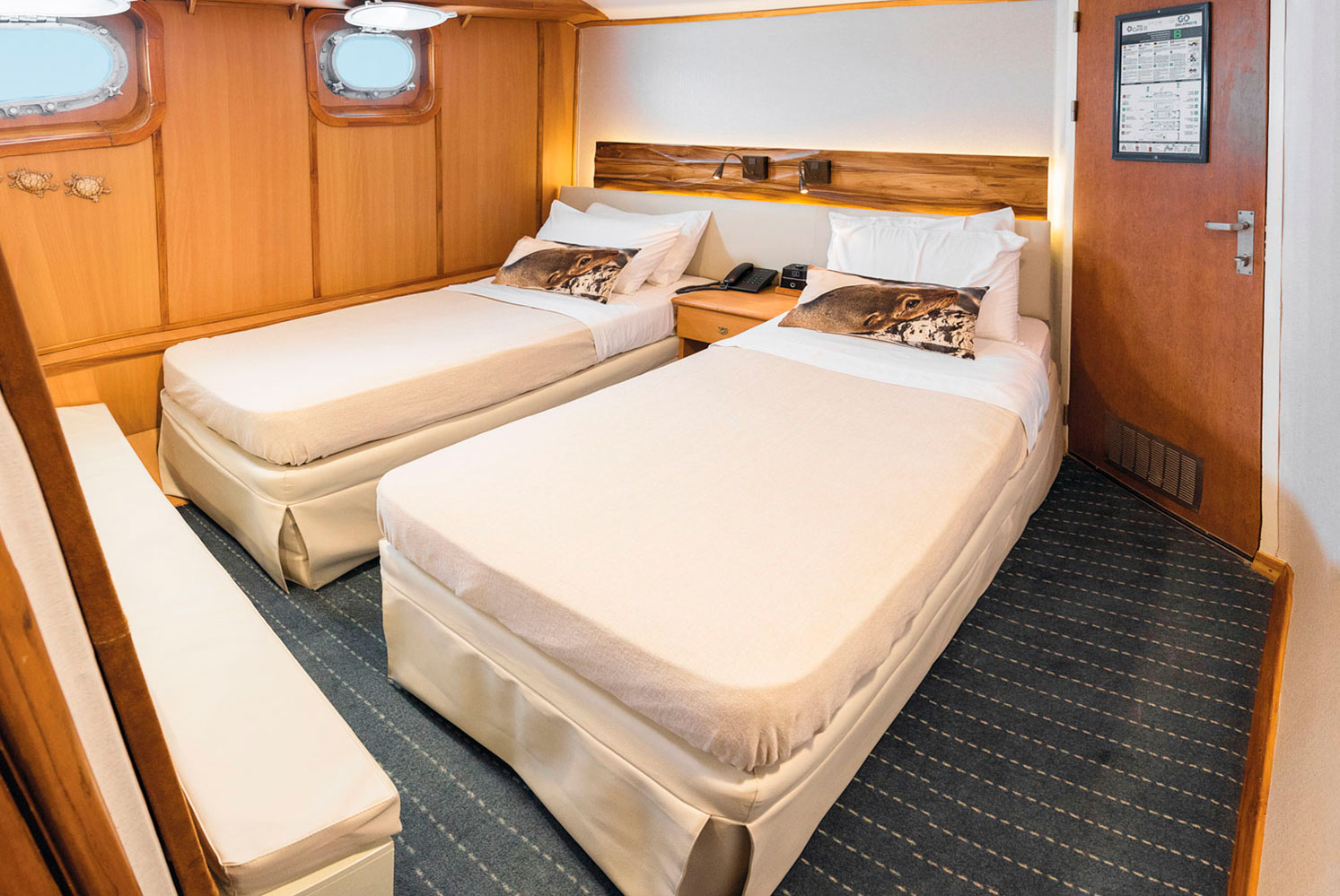 M/Y Coral I and the M/Y Coral II Cabins