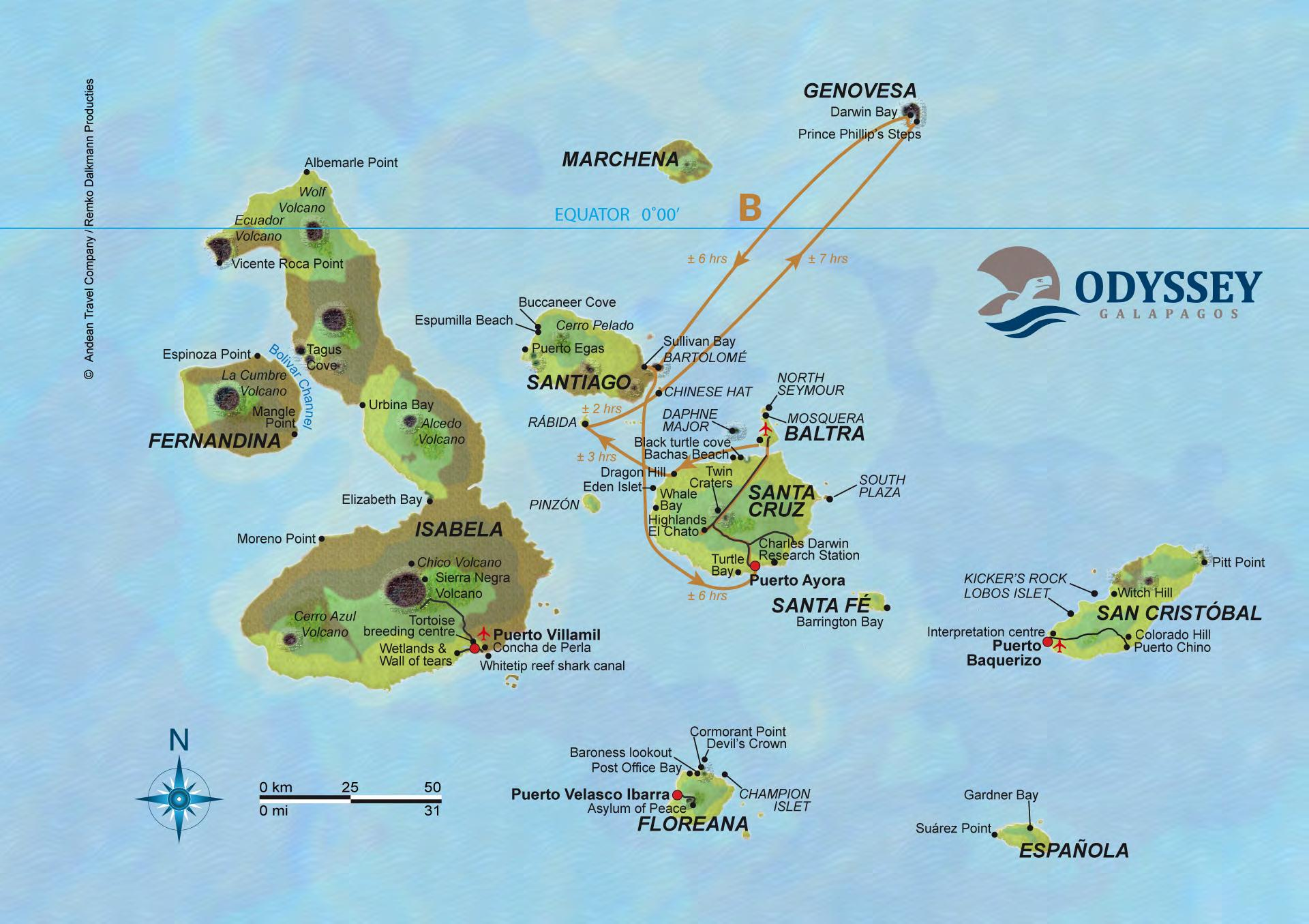Odyssey B - 5 Days - Crowns jewels of Galapagos