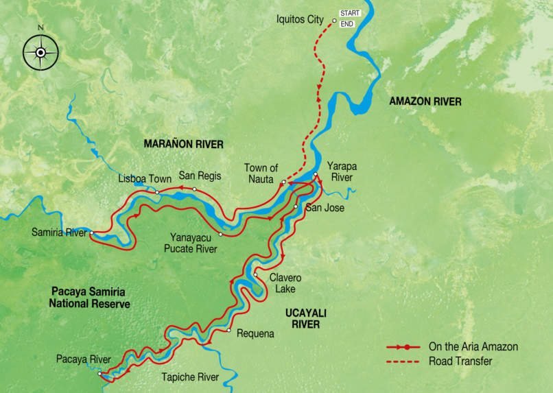 Aria Amazon Low Water Itinerary
