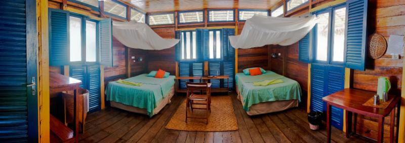 Uakari Floating Jungle Lodge Rooms