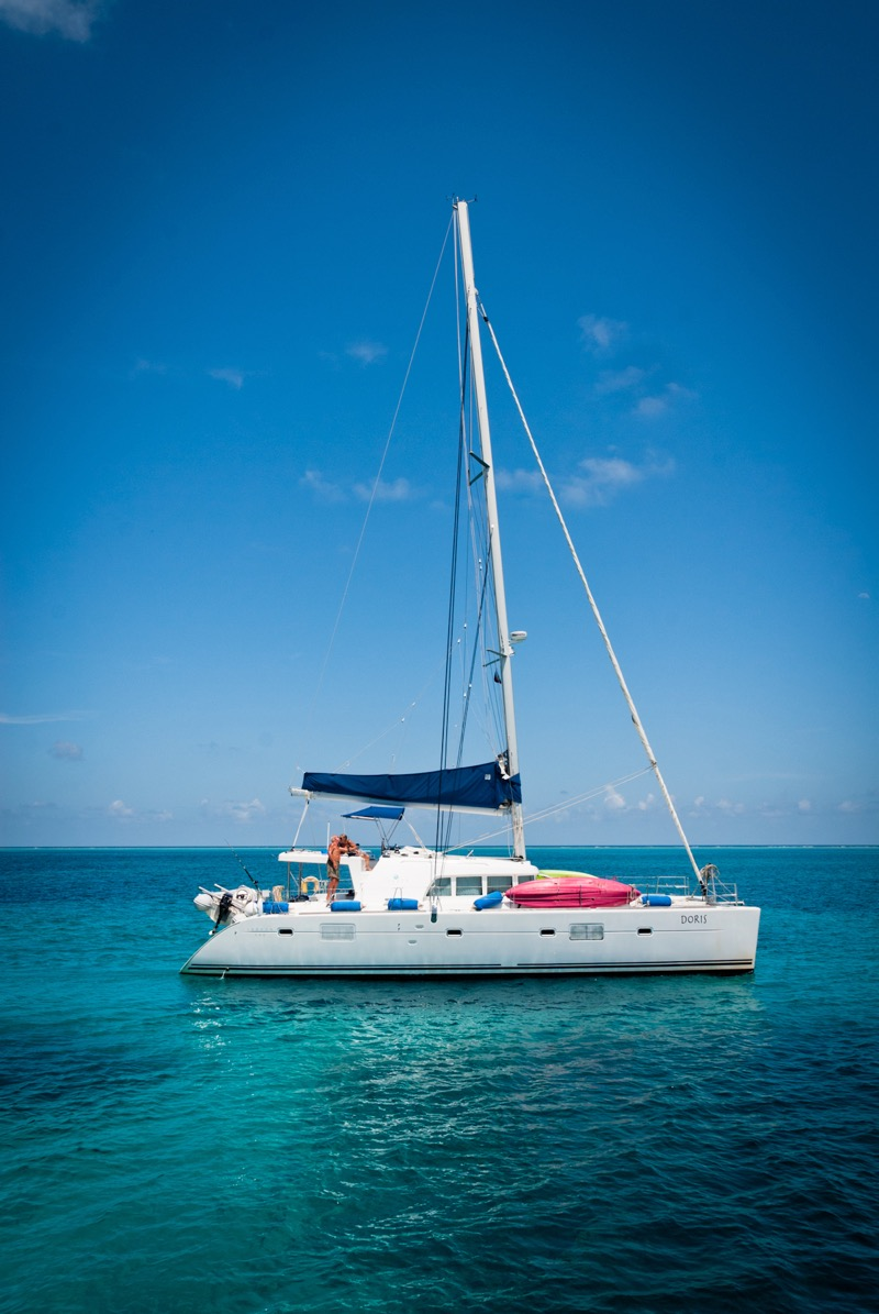 Luxury sailboat in Belize