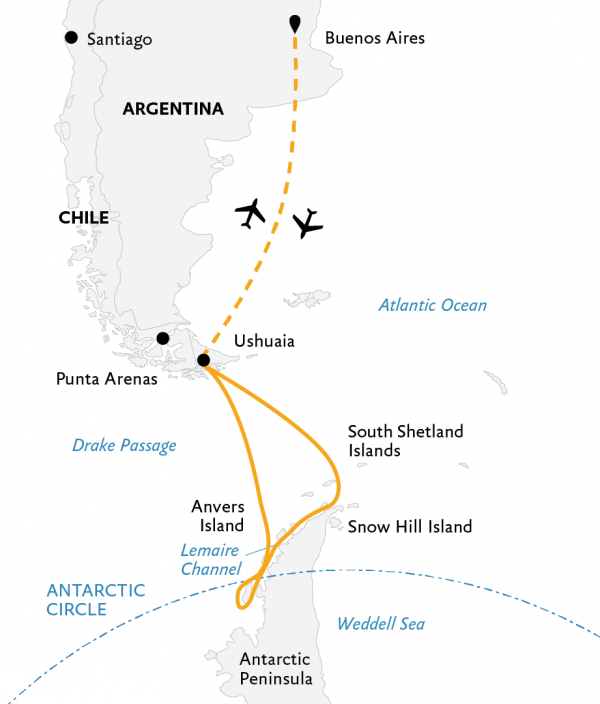 Southern Antarctic Expedition Map